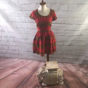 Free People Open Back Red Dress